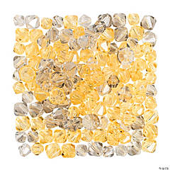 Grey & Yellow Crystal Bead Assortment - 6mm - 8mm