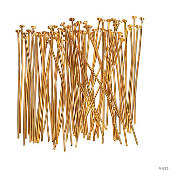 Goldtone Headpins - 2""