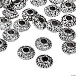 Silvertone Metal Scrolled Spacer Beads - 8mm