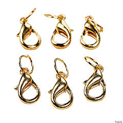Goldtone Metal Lobster Clasps & Jumprings
