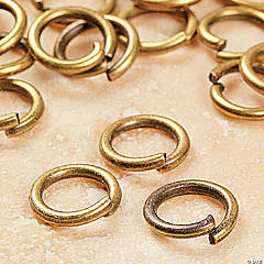 Antique Gold-Finish Metal Jumprings