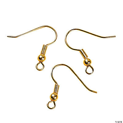 Goldtone Fish Hook Earring Wires