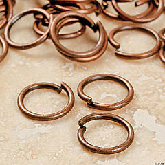 Copper-Tone Metal Jumprings - 6mm