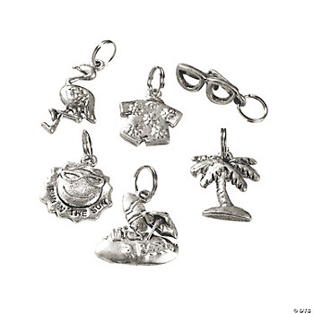 Silvertone Metal Fun-In-The-Sun Charms