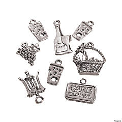 Silvertone Wine Lover's Charms