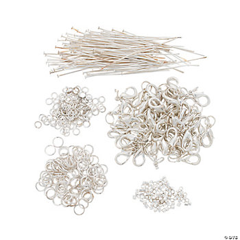 Big Pack Silvertone Metal Basic Findings Kit