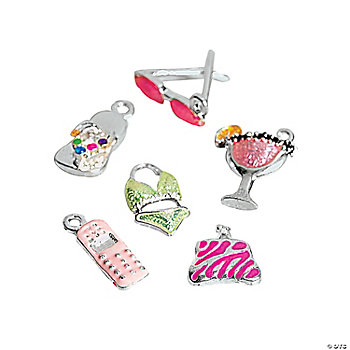 Enamel Girlfriend Charms