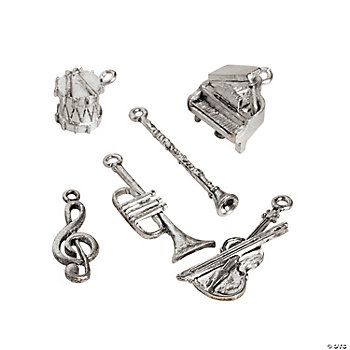 Silvertone Musical Instrument Charms