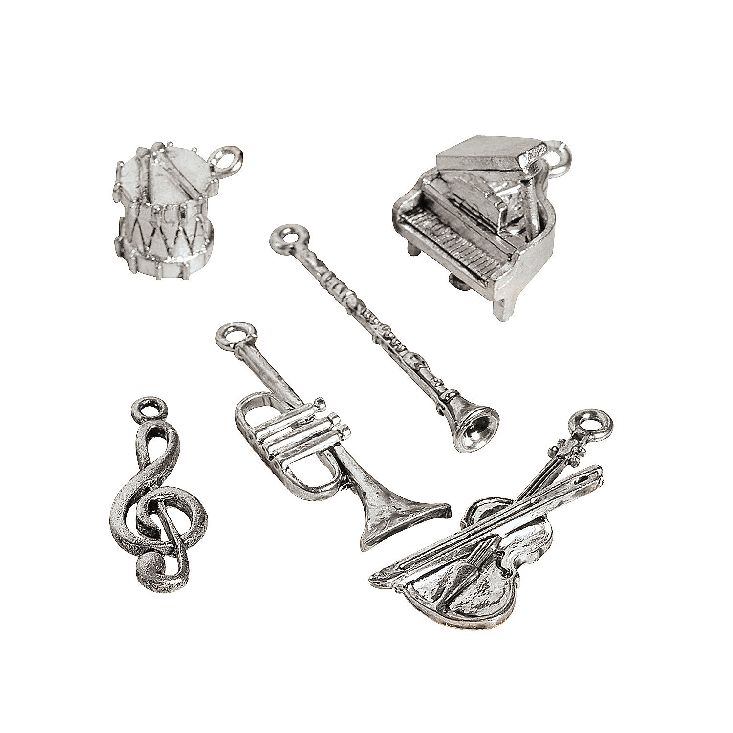 silvertone musical instrument charms oriental trading discontinued. Black Bedroom Furniture Sets. Home Design Ideas