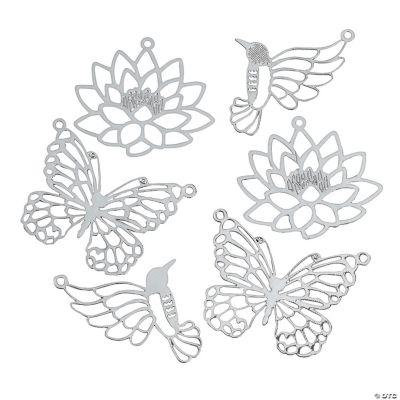 Silvertone Metal Nature's Beauty Cutout Pendants