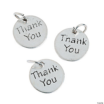 """Thank You"" Charms"