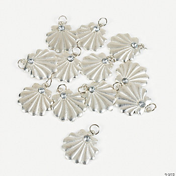 Seashell Charms With Rhinestone