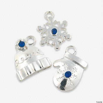Rhinestone Accent Winter Charms