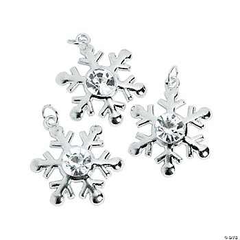 Snowflake Charms With Rhinestone