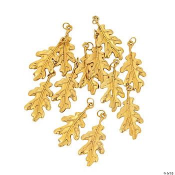 Goldtone Leaf Charms