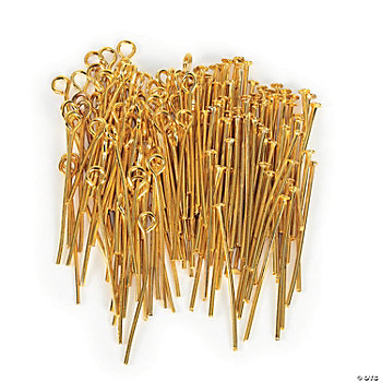 Goldtone Headpin & Eye Pin Assortment