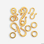 Goldtone Large & Small S-Hooks