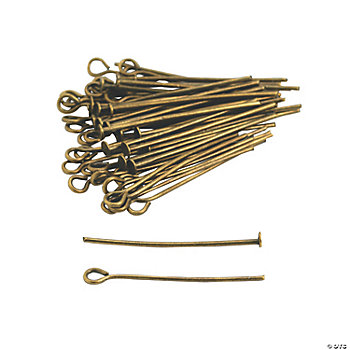Antique Goldtone Headpins & Eyepins - 1""