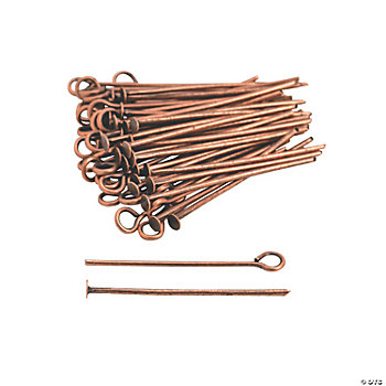 Copper-Tone Headpins & Eyepins - 1""