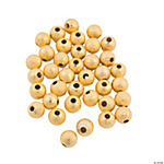 Goldtone Glitter Round Beads - 6mm