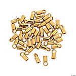 Goldtone Crimp Tubes with Loop
