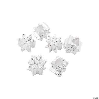 Snowflake Large Hole Beads - 11mm