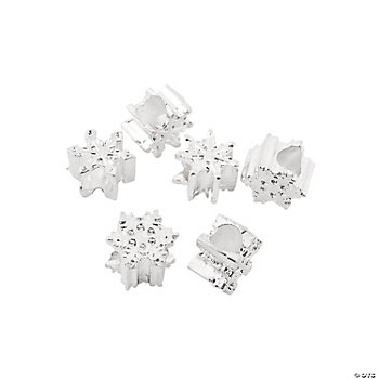 Snowflake Large Hole Beads - 11mm