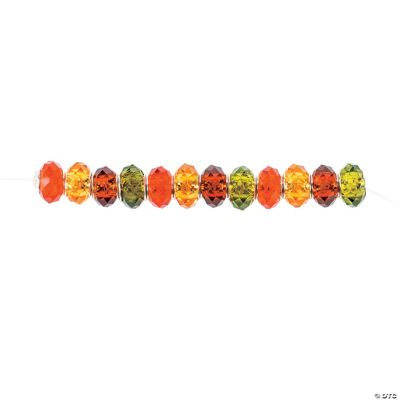 Fall Faceted Large Hole Beads - 14mm