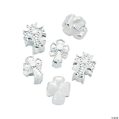Cross Large Hole Beads - 13mm