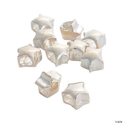 Star Large Hole Beads - 10mm x 10mm