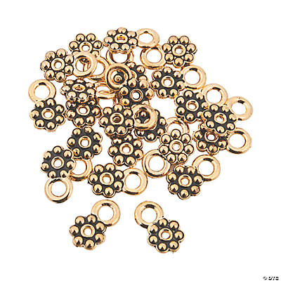 Goldtone Daisy Spacers with Loop