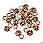 Copper-Tone Daisy Spacers With Loop