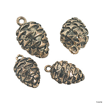Goldtone Pinecone Charms - 12mm, 17mm