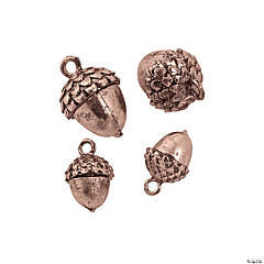 Copper-Tone Acorn Charms