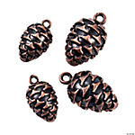 Copper-Tone Large &amp: Small Pinecone Charms - 12mm, 17mm