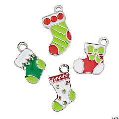 Stocking Enamel Charms