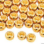 Flat Goldtone Beads - 4mm