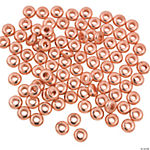 Flat Copper-Tone Beads - 6mm