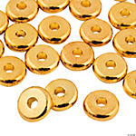 Flat Goldtone Beads - 8mm
