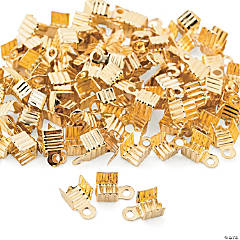 Goldtone Cord Tips - 6mm