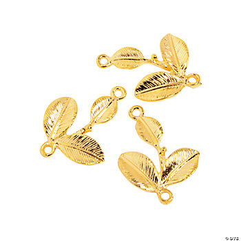 Goldtone Leaves Charms