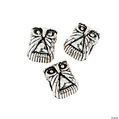 Owl Large Hole Beads - 12mm