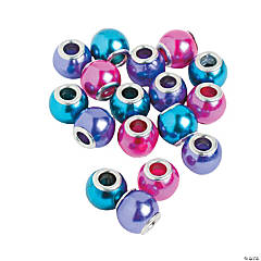 Colorful Pearl Large Hole Beads - 12mm