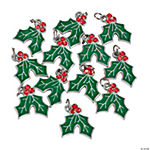 Holly Berry Charms with Rhinestones