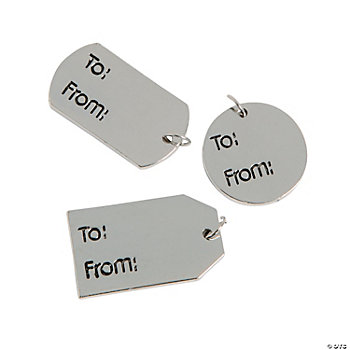 """To/From"" Tag Charms"