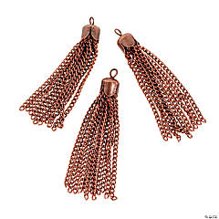 Copper-Tone Tassel Charms