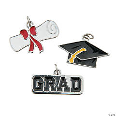 Graduation Enamel Charms