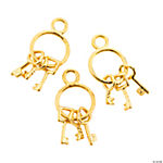 Goldtone Keys On A Ring Charms