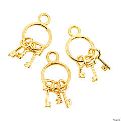Goldtone Keys on a Ring Charm