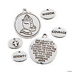 Silvertone Serenity Prayer Word Charms